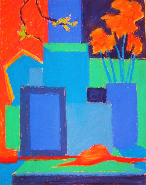Blue Set Ignore Depth Of Space And Simplify Flatten The Shapes In A Still Life Use Complementary Color Scheme With Close Values