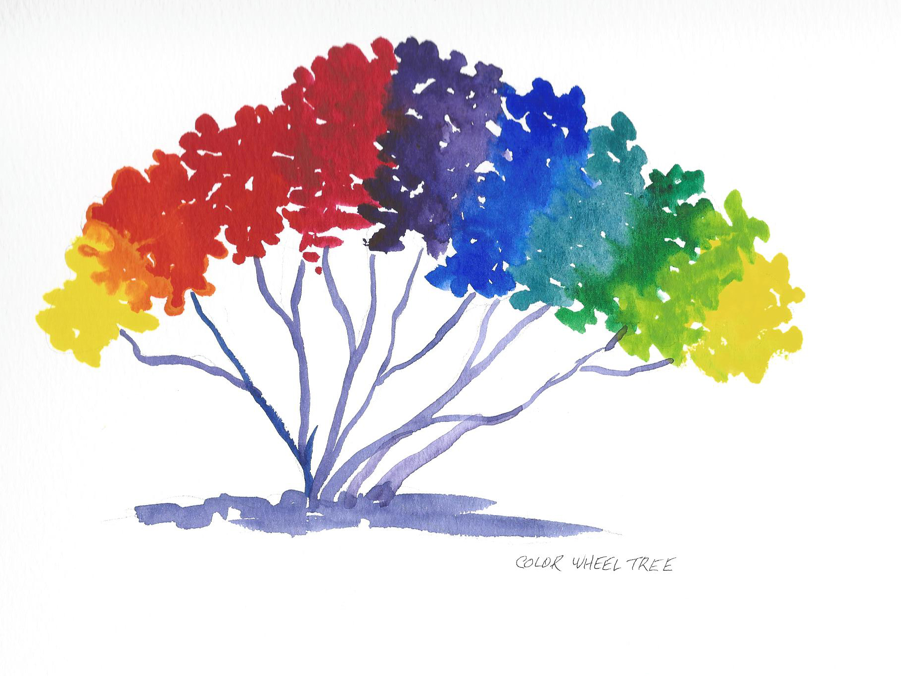 Color Wheel Project Ideas Color Wheel Tree