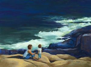 MaryAnn Stafford Surf Watchers Pastel